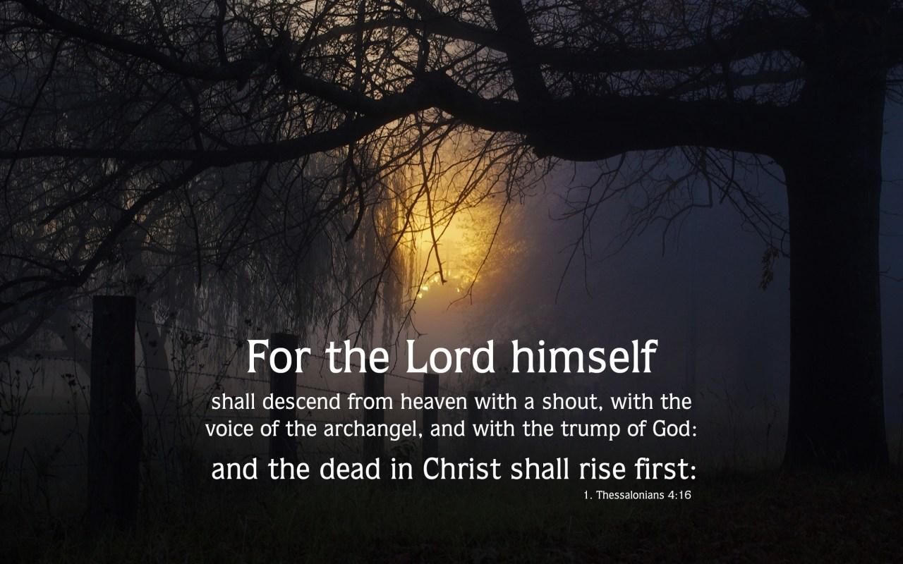 1. Thessalonians 4:16 - Free Nature & Bible Desktop Background / Wallpaper