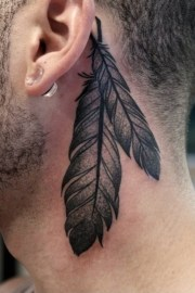 beautiful tribal feather tattoos