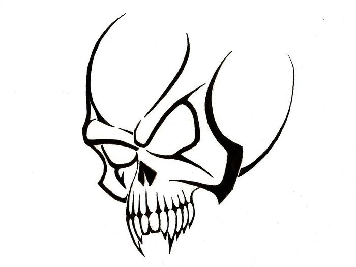 Simple Skull Tattoo Designs For Men