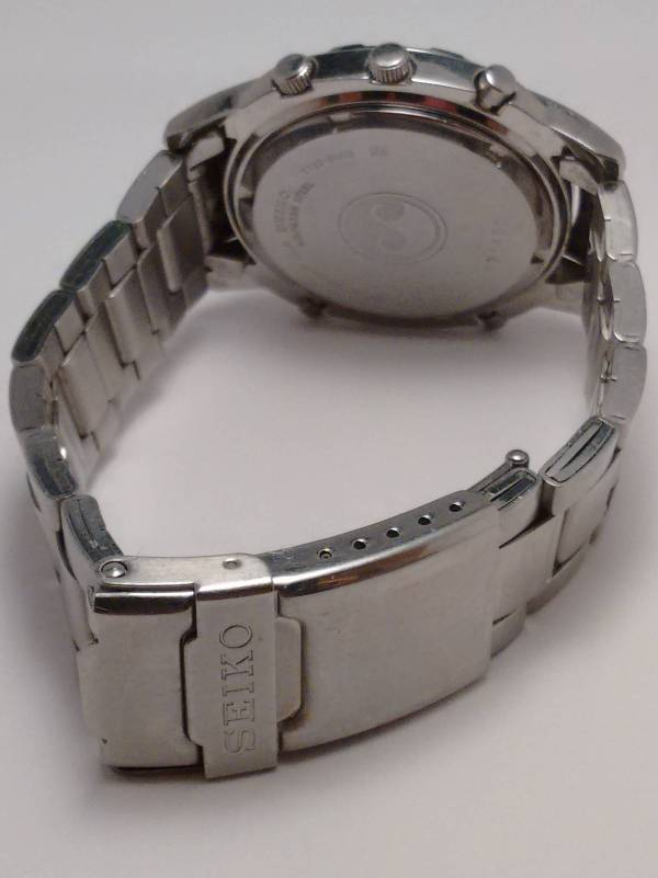 Seiko 7T32-6M00 Bracelet and back