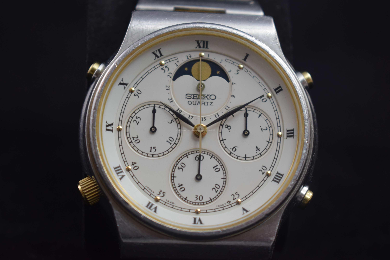 Vintage Seiko 7A48-7000 Quartz Chronograph