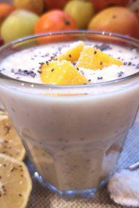 Smoothie au lait de coco et graines de chia