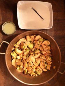 Ingrédients gelée de pommes