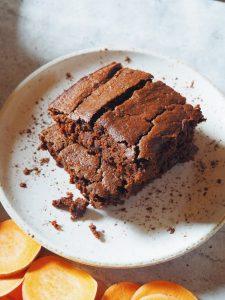 fondant au chocolat avec une base de patate douce