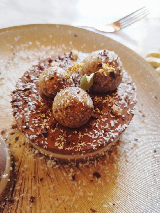 cheesecake chocolat coco, vegan et sans gluten - recette