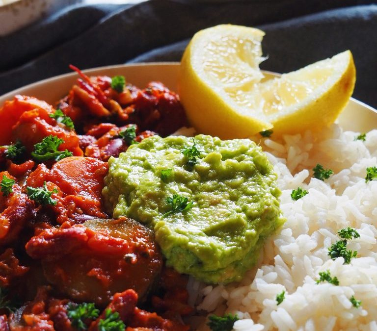 Chili sin carne aux courgettes
