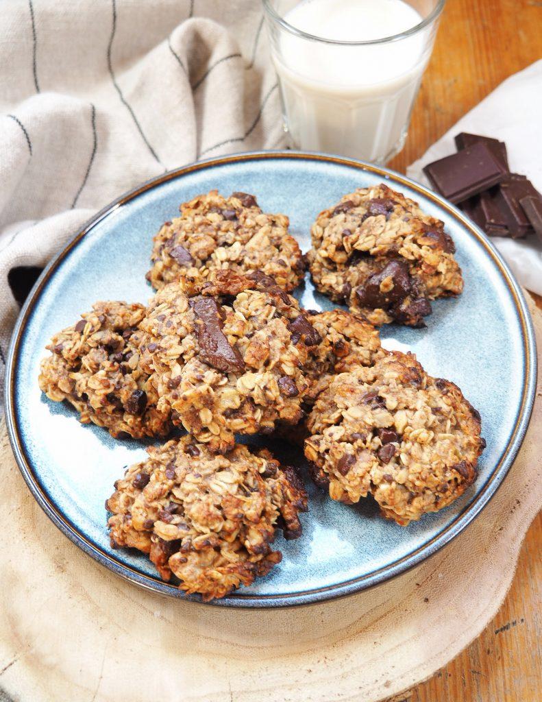 Cookies à l'avoine et au chocolat - Recette vegane
