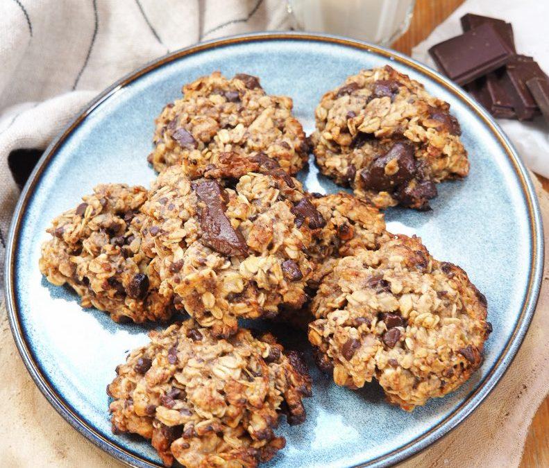 Cookies aux flocons d'avoine et au chocolat (sans gluten, vegan)