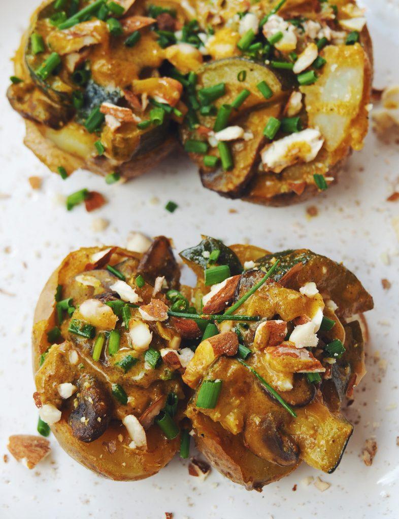 Pommes de terre aux champignons, recette végétarienne
