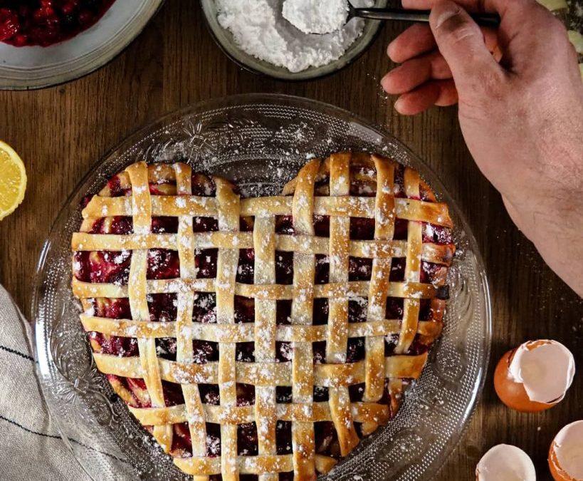 Tarte aux fruits rouges et crème pâtissière au citron ( spécial Saint-Valentin)