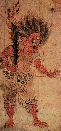 Gaki-zoshi (Scroll of the Hungry Ghosts), Late 12th Century; photo courtesy www.arthistory-archaeology.umd.edu/resources/modules/monsters/sld021.htm
