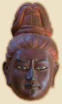 Mask, Modern Reproduction of Ashura face found at Kofuku-ji (Nara), photo courtesy www2.cyberoz.net/city/sanden