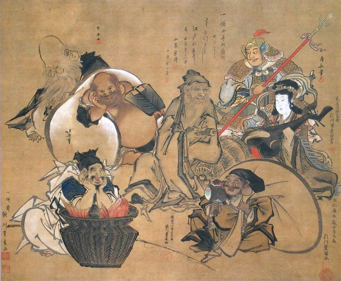 Risultati immagini per paint art ancient culture gods japan