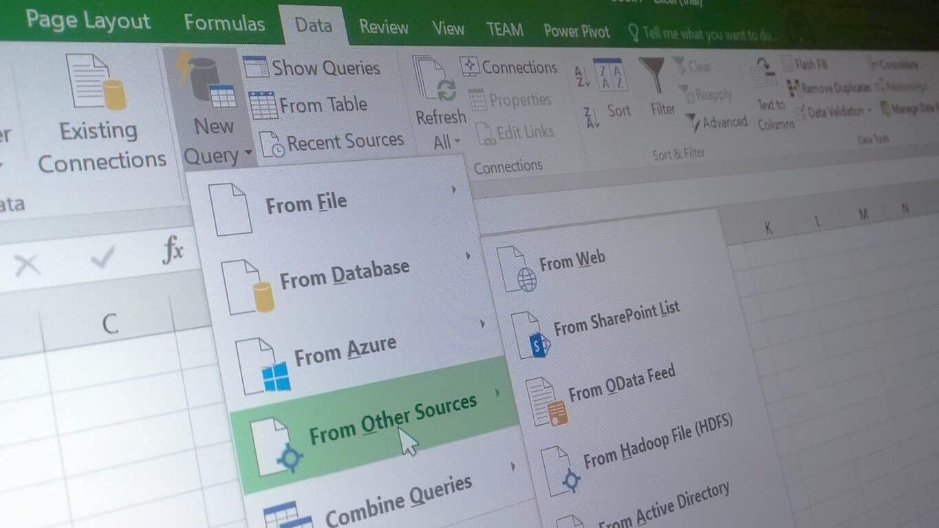 Excel 2016 new Data capabilities