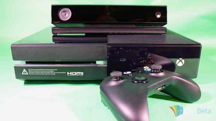 The original Xbox One with its Kinect sensor.
