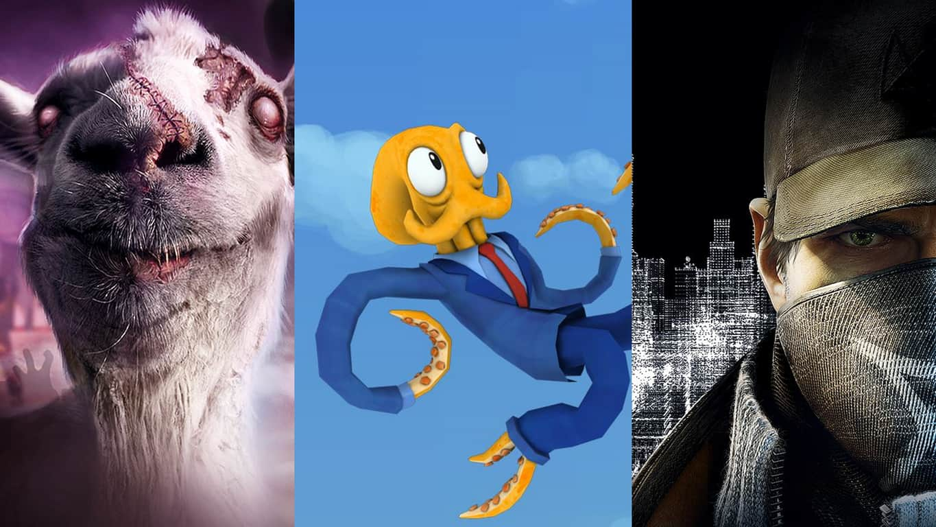 Goat Simulator, Octodad, and Watch_Dogs on Xbox OneGoat Simulator, Octodad, and Watch_Dogs on Xbox One