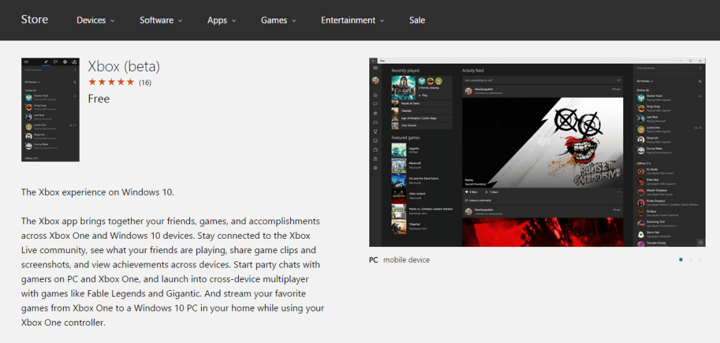 Xbox app (Beta) for Windows 10 shows up early OnMSFT com