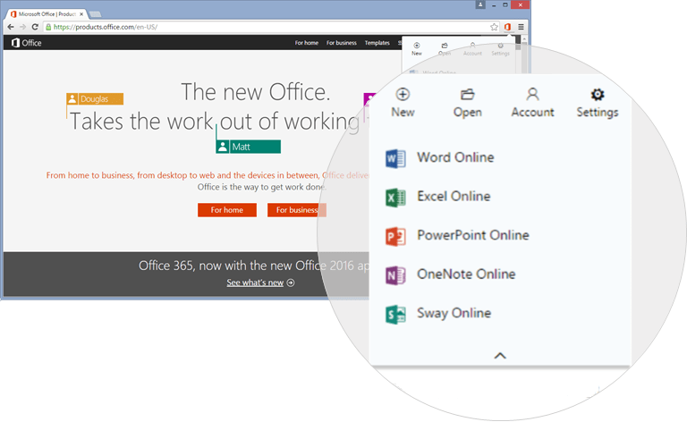 Chrome gets a nice new Office Online extension.