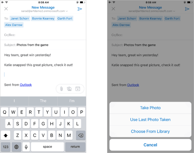 Message composition is also updated, to be simpler and easier to use.
