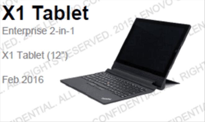 The Lenovo X1 Tablet.