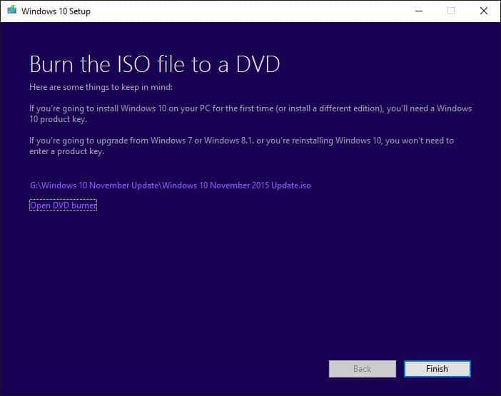 Now you can burn your ISO.