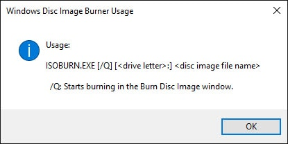 You might get an error instead of the DVD burner utility.
