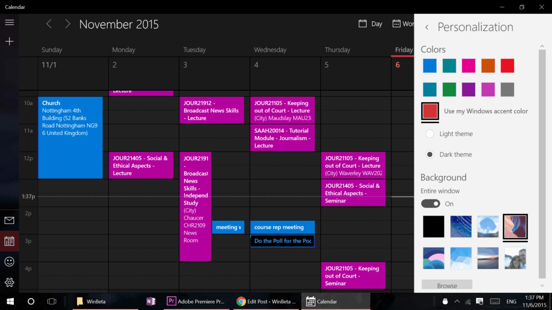 calendar personalization