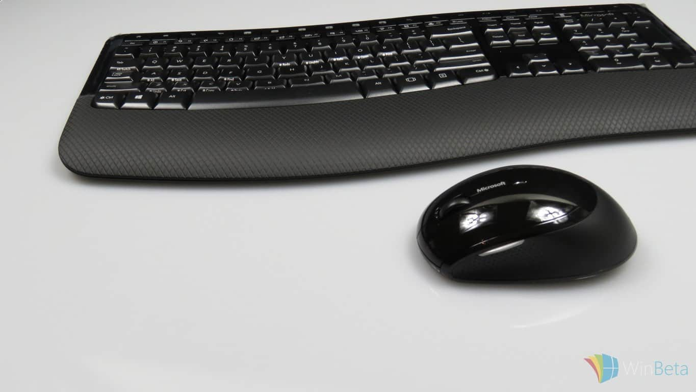 Microsoft Wireless Comfort 5050 keyboard and mouse hands-on