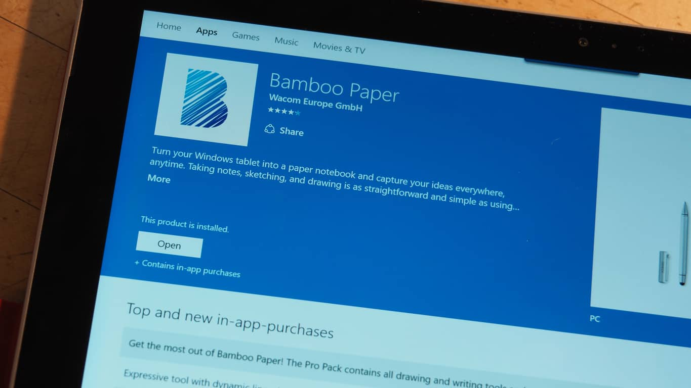 Bamboo Paper Windows 10 App