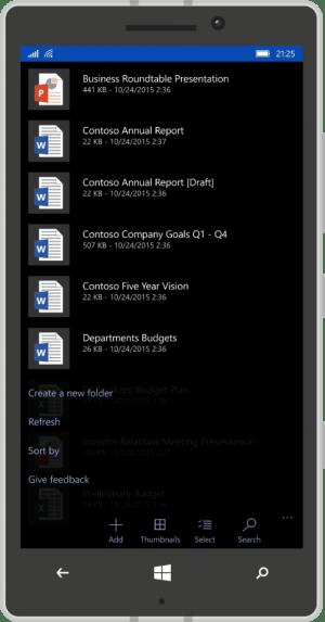 OneDrive Mobile App