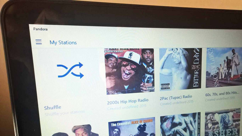 Pandora Windows 10