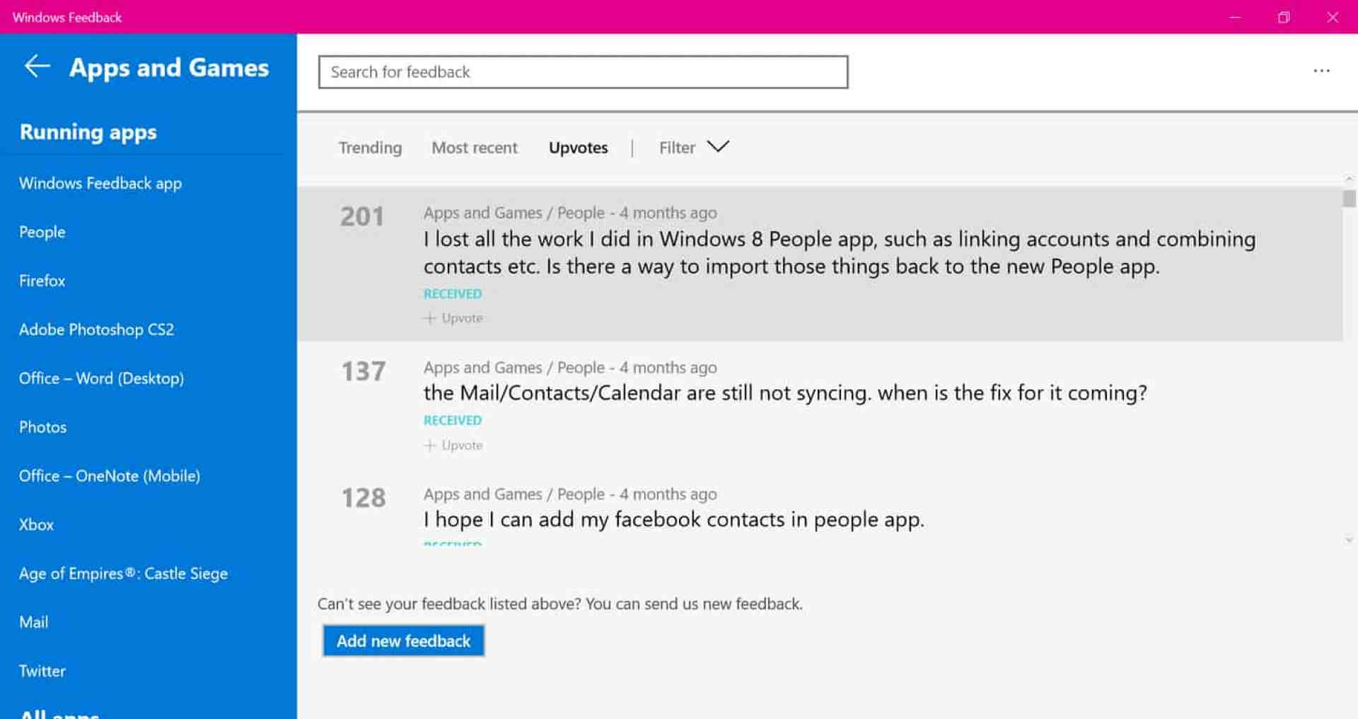 Many Windows 10 users unable to connect social apps to the Windows 10 People app