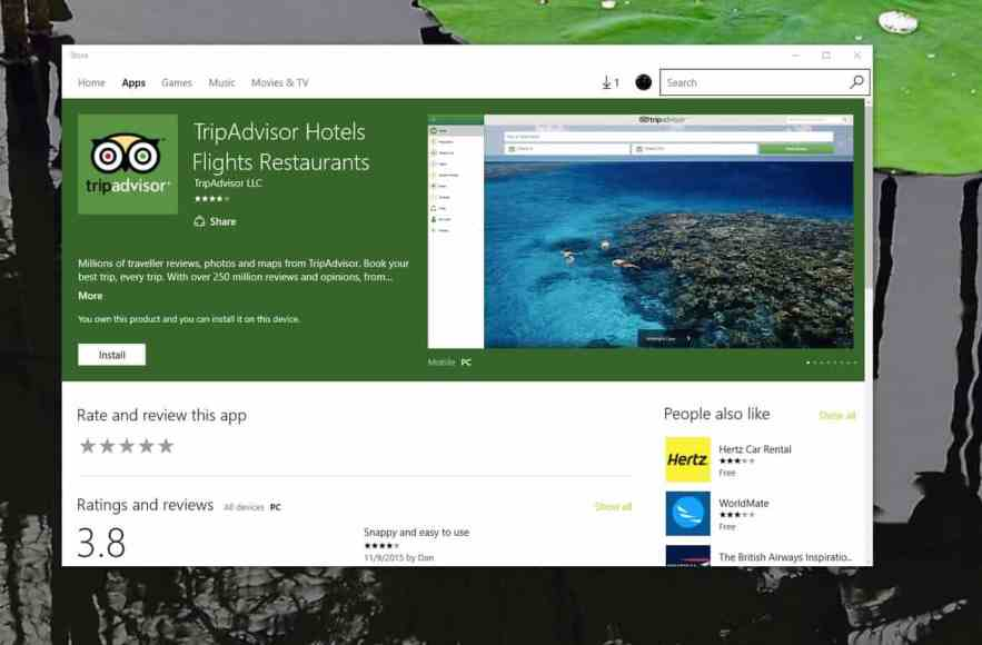 TripAdvisor now has a Universal Windows 10 app | On MSFT