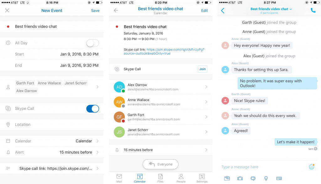 Here's what Outlook for iOS and Android look like on their