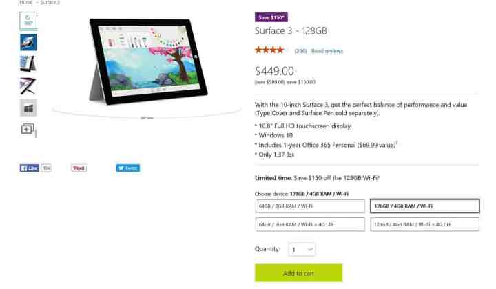 surface 3 deal
