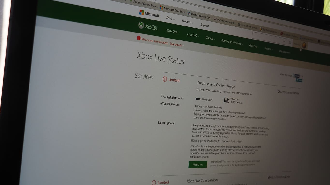 Xbox Live having issues with purchasing content, signing in