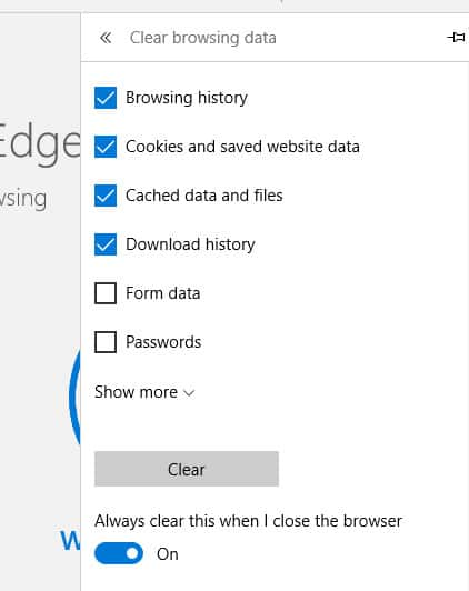 How to automatically delete your Microsoft Edge browsing
