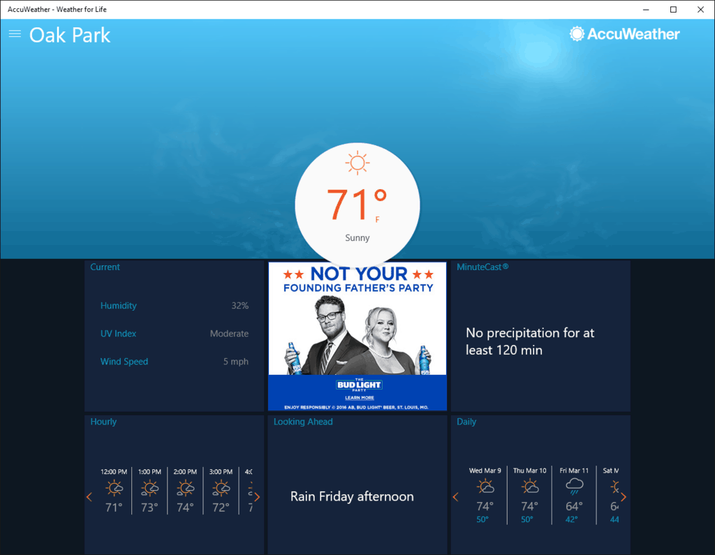 AccuWeather Universal Windows 10 app gets a major redesign in newest