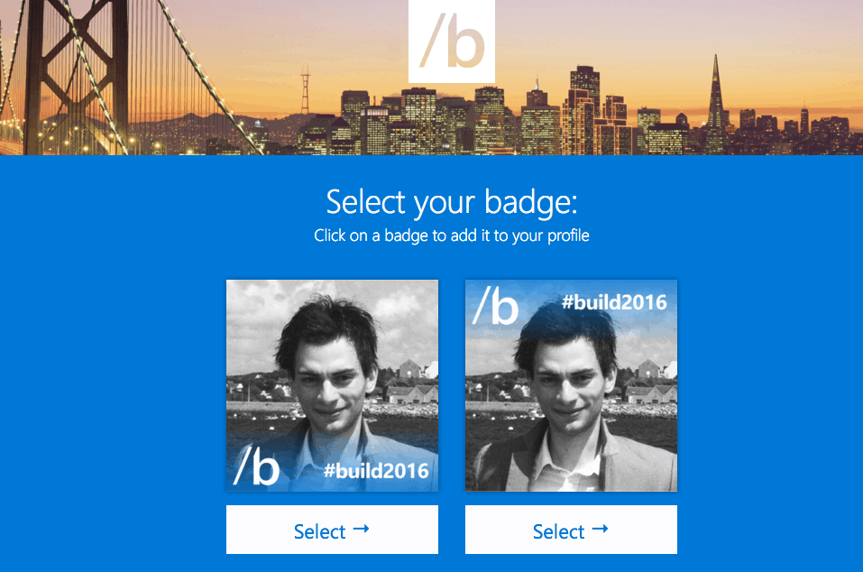 Select your badge and set it as your profile picture.