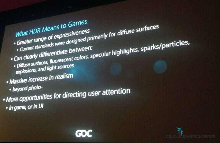 DirectX HDR support slide.