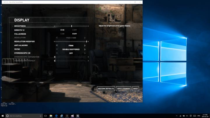 Rise of the Tomb Raider Windows Store DirectX 12