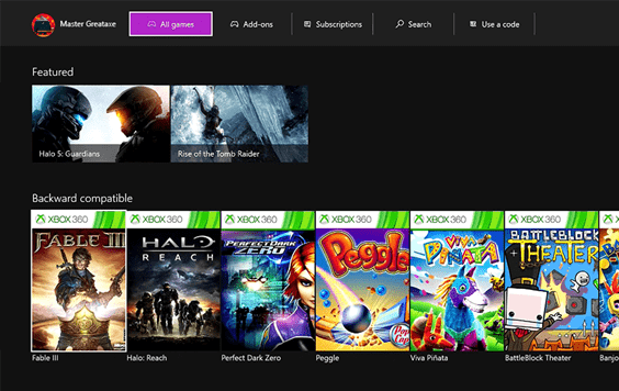 Get Xbox 360 backward compatible games right from your Xbox One