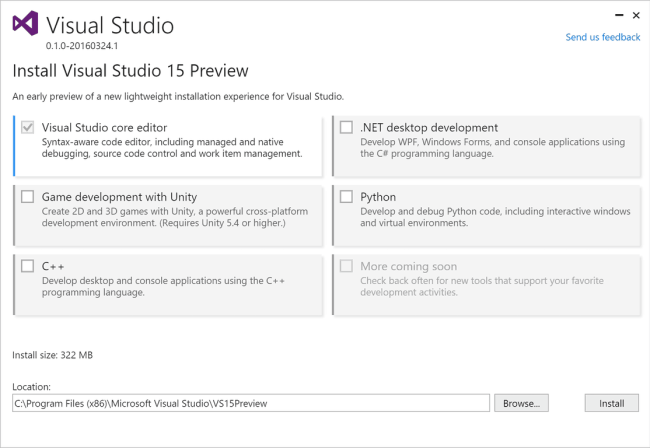 "Visual Studio ""15"" Preview"