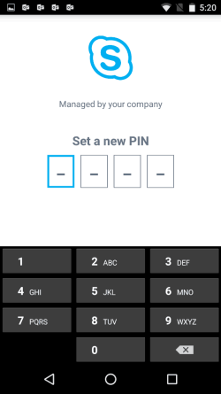 Set a PIN to limit security breaches.