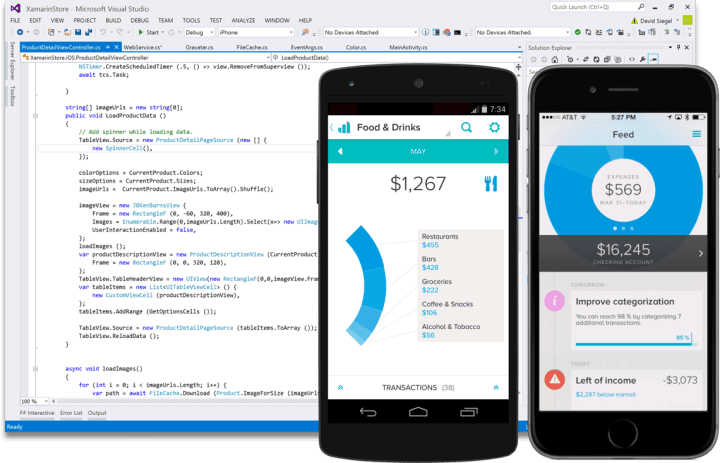 """Xamarin support will be a future bundle for Visual Studio """"15"""""""