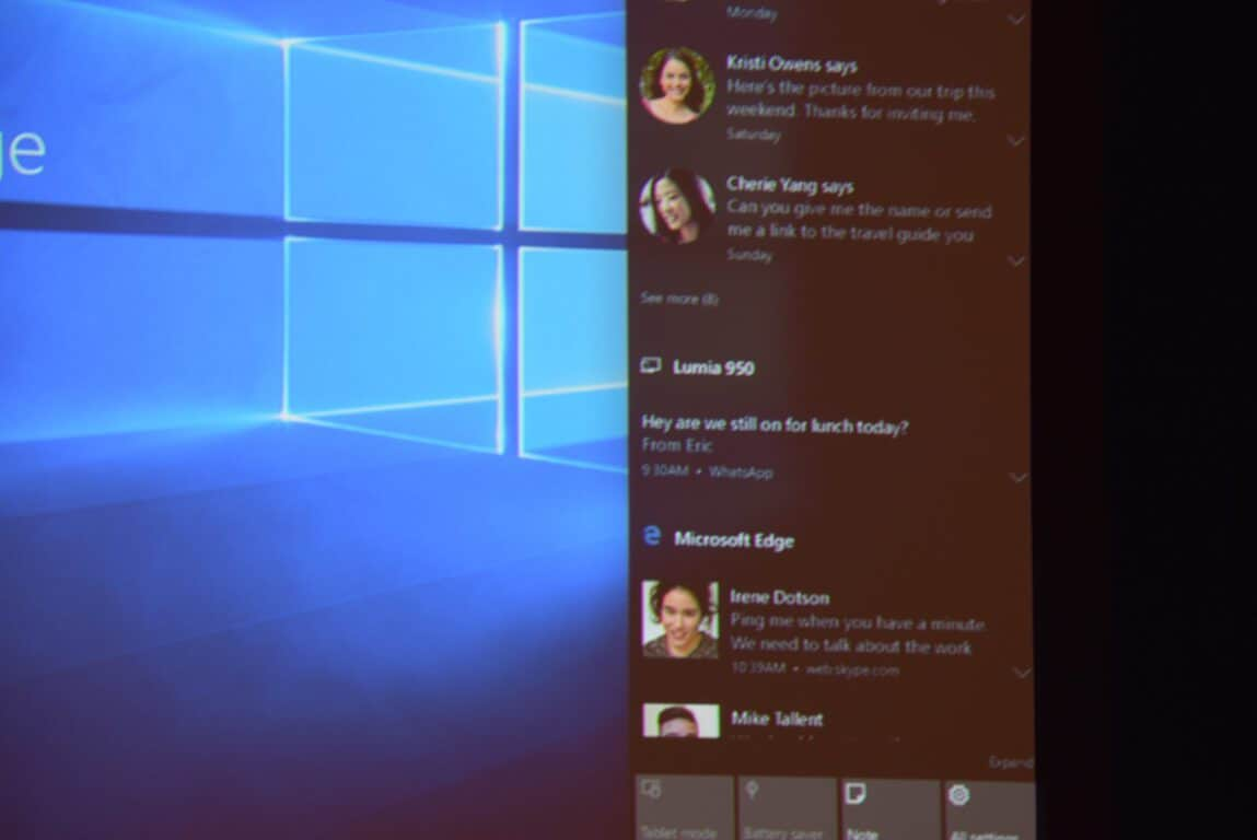 Windows 10 Insider build 14328 gets refreshed Action Center UI and
