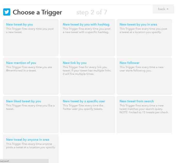 IFTTT Choose a Trigger