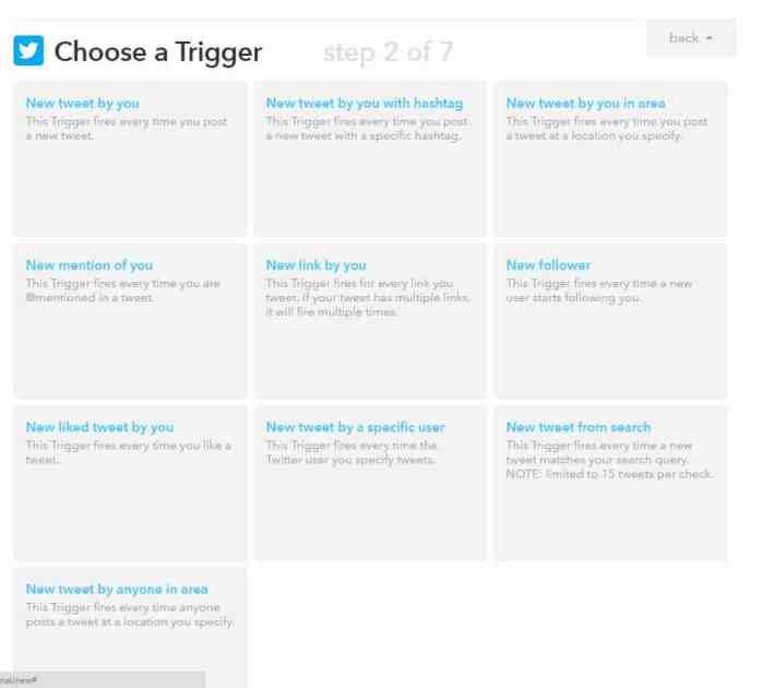 IFTTT Choose a Trigger