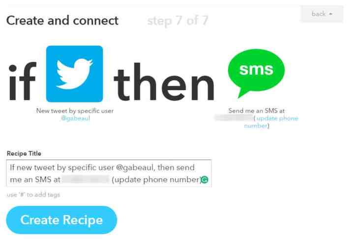 IFTTT Create and connect