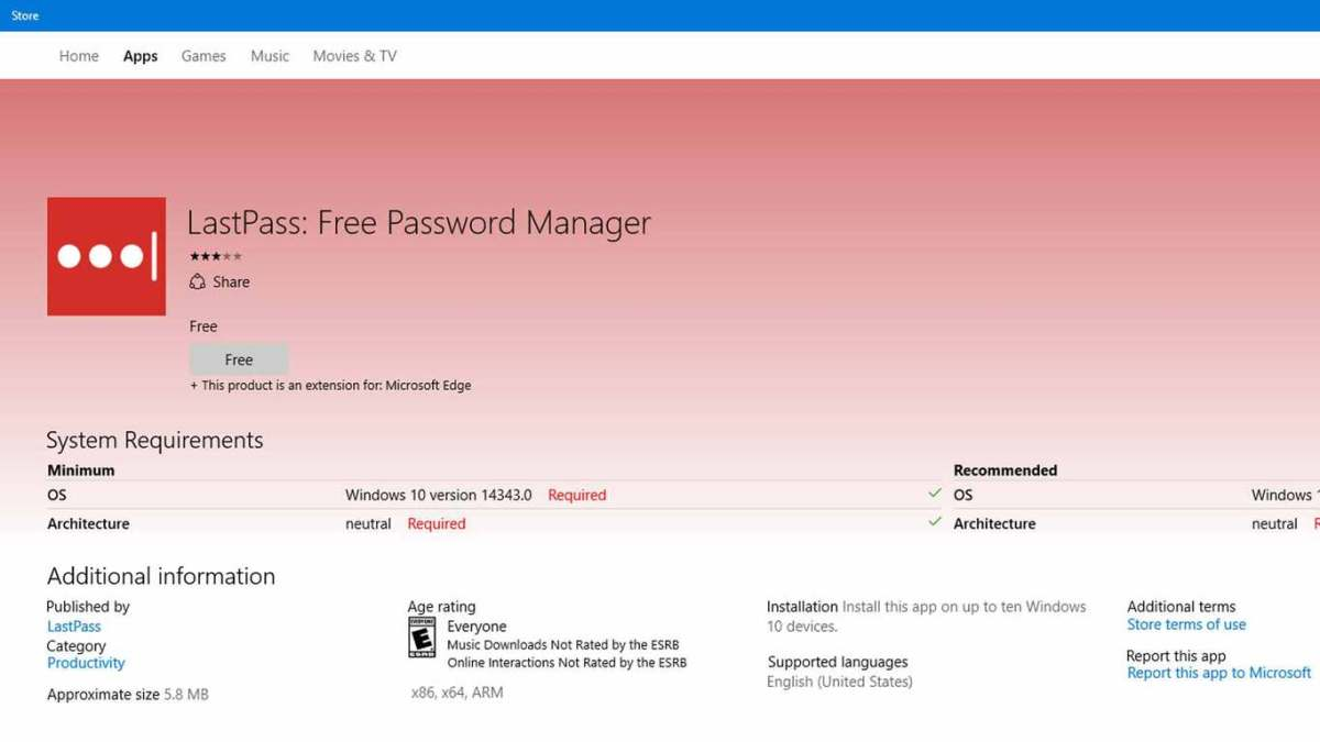 LastPass Edge Extension now available for Windows Insiders on 14352